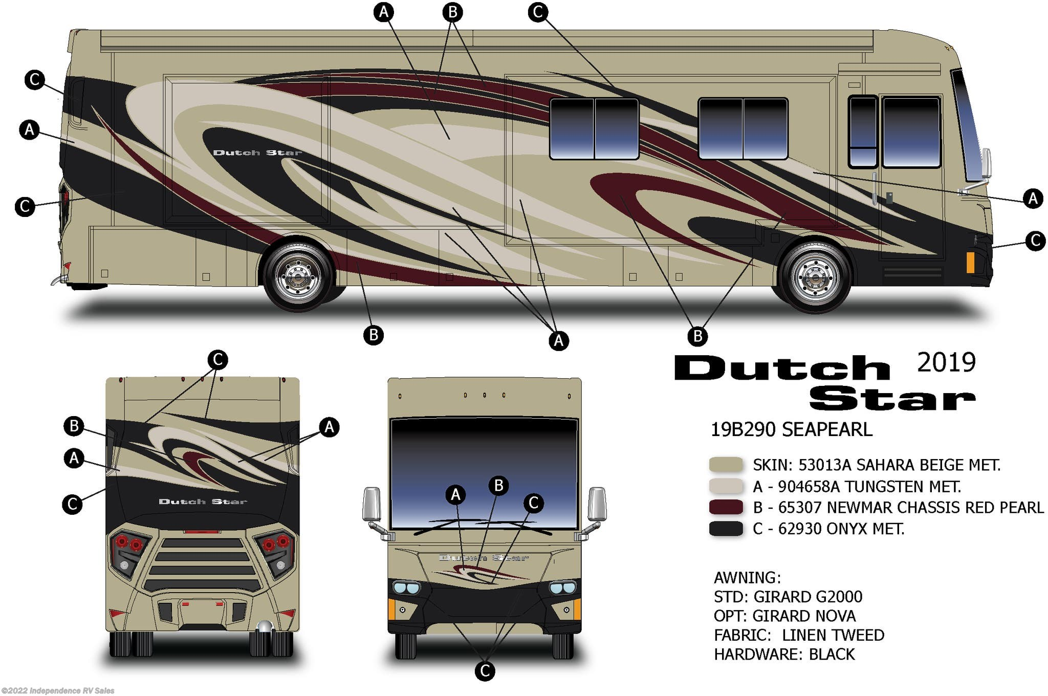 New 2019 Newmar Dutch Star 4369 Available In Winter Garden, Florida