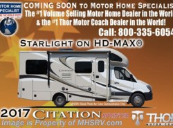 New 2017  Thor Motor Coach Chateau Citation Sprinter 24ST Diesel RV for Sale at MHSRV W/Jacks & Dsl Gen by Thor Motor Coach from Motor Home Specialist in Alvarado, TX