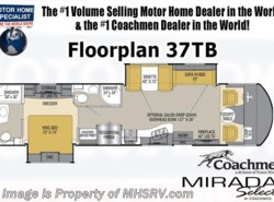 New 2017  Coachmen Mirada Select 37TB Bunk Model 2 Baths RV for Sale W/King Bed by Coachmen from Motor Home Specialist in Alvarado, TX