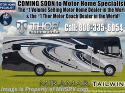 New 2018  Thor Motor Coach Miramar 34.2 RV for Sale at MHSRV W/FWS, King, Fireplace by Thor Motor Coach from Motor Home Specialist in Alvarado, TX