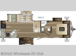 New 2017  Keystone Cougar X-Lite 33MLS by Keystone from Wholesale RV Club in Ohio