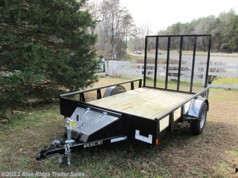 2019 Rice Trailers 6x12 Pipe Top SA w/5' Gate