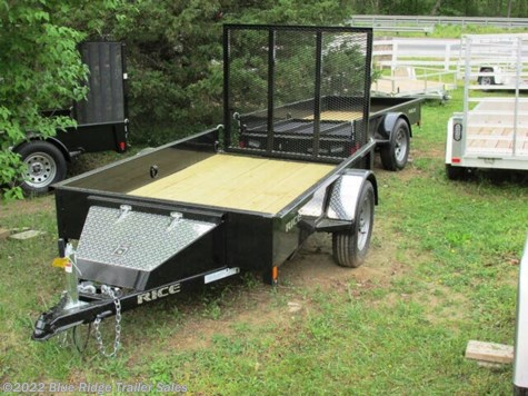 2020 Rice Trailers Stealth 5x8 SA  w/4' Gate