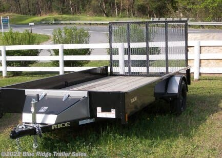 2020 Rice Trailers 7x10 Solid Sides and Wood Floor