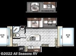 New 2018  Forest River Rockwood Roo 23IKSS by Forest River from All Seasons RV in Muskegon, MI