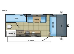 New 2017  Jayco Jay Feather 7 19BH by Jayco from Fretz  RV in Souderton, PA