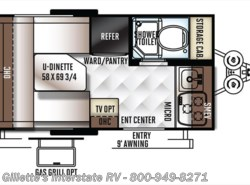 New 2018  Forest River Flagstaff E-Pro 14FK by Forest River from Gillette's Interstate RV, Inc. in East Lansing, MI