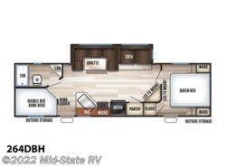 New 2018  Forest River Cherokee 264DBH by Forest River from Mid-State RV Center in Byron, GA