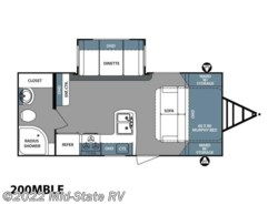 New 2018  Forest River Surveyor LE 200MBLE by Forest River from Mid-State RV Center in Byron, GA
