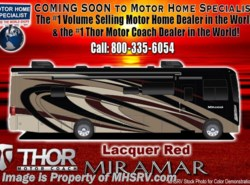 New 2018  Thor Motor Coach Miramar 34.2 RV for Sale at MHSRV W/FBP, King & Fireplace
