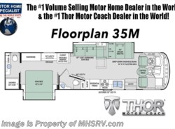 New 2018  Thor Motor Coach Hurricane 35M Bath & 1/2 RV for Sale at MHSRV.com W/King Bed by Thor Motor Coach from Motor Home Specialist in Alvarado, TX
