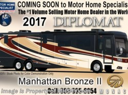 New 2017  Monaco RV Diplomat 43Q Bath & 1/2 Luxury Diesel RV W/Tile Shower, Sat by Monaco RV from Motor Home Specialist in Alvarado, TX