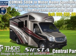 New 2018  Thor Motor Coach Four Winds Siesta Sprinter 24ST RV for Sale at MHSRV W/Summit Pkg & Dsl Gen by Thor Motor Coach from Motor Home Specialist in Alvarado, TX