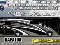 New 2019  Thor Motor Coach Palazzo 36.3 Bath & 1/2 Diesel Pusher W/D & Theater Seats by Thor Motor Coach from Motor Home Specialist in Alvarado, TX