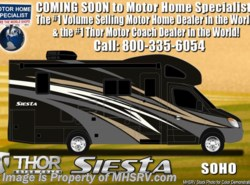 New 2018  Thor Motor Coach Four Winds Siesta Sprinter 24SJ Diesel Sprinter RV W/Summit Pkg, Dsl Gen by Thor Motor Coach from Motor Home Specialist in Alvarado, TX