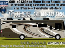 New 2018  Thor Motor Coach Miramar 37.1 Bunk Model W/ 2 Full Baths & Fireplace by Thor Motor Coach from Motor Home Specialist in Alvarado, TX