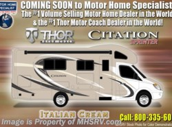 New 2018  Thor Motor Coach Chateau Citation Sprinter 24SS RV for Sale at MHSRV W/Upgraded A/C by Thor Motor Coach from Motor Home Specialist in Alvarado, TX