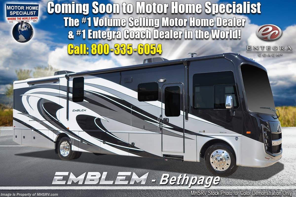 2019 Entegra Coach RV Emblem 36H Class A Gas Luxury RV W/ Theater Seats,  King for Sale in Alvarado, TX 76009 | FET021977113
