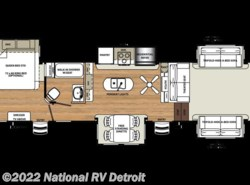 New 2018  Forest River Sandpiper 377FLIK by Forest River from National RV Detroit in Belleville, MI