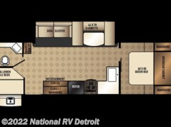 New 2018  Palomino Solaire Ultra Lite 268BHSK by Palomino from National RV Detroit in Belleville, MI