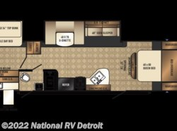 New 2018  Palomino Solaire Ultra Lite 317BHSK by Palomino from National RV Detroit in Belleville, MI