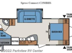 Used 2014  K-Z Spree Connect C250BHS by K-Z from Parkview RV Center in Smyrna, DE