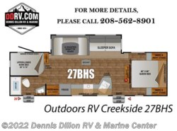 New 2018  Outdoors RV  Outdoors Rv Creekside 27 Bhs by Outdoors RV from Dennis Dillon RV & Marine Center in Boise, ID