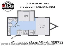 New 2018  Winnebago Minnie 1808Fb by Winnebago from Dennis Dillon RV & Marine Center in Boise, ID