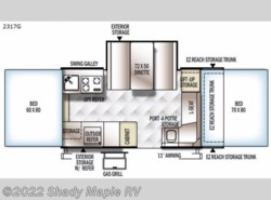 New 2017  Forest River Rockwood Premier 2317G by Forest River from Shady Maple RV in East Earl, PA