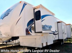 Used 2011  Forest River Sandpiper 340RL Rear Living Quad Slide with King Bed by Forest River from White Horse RV Center in Egg Harbor City, NJ