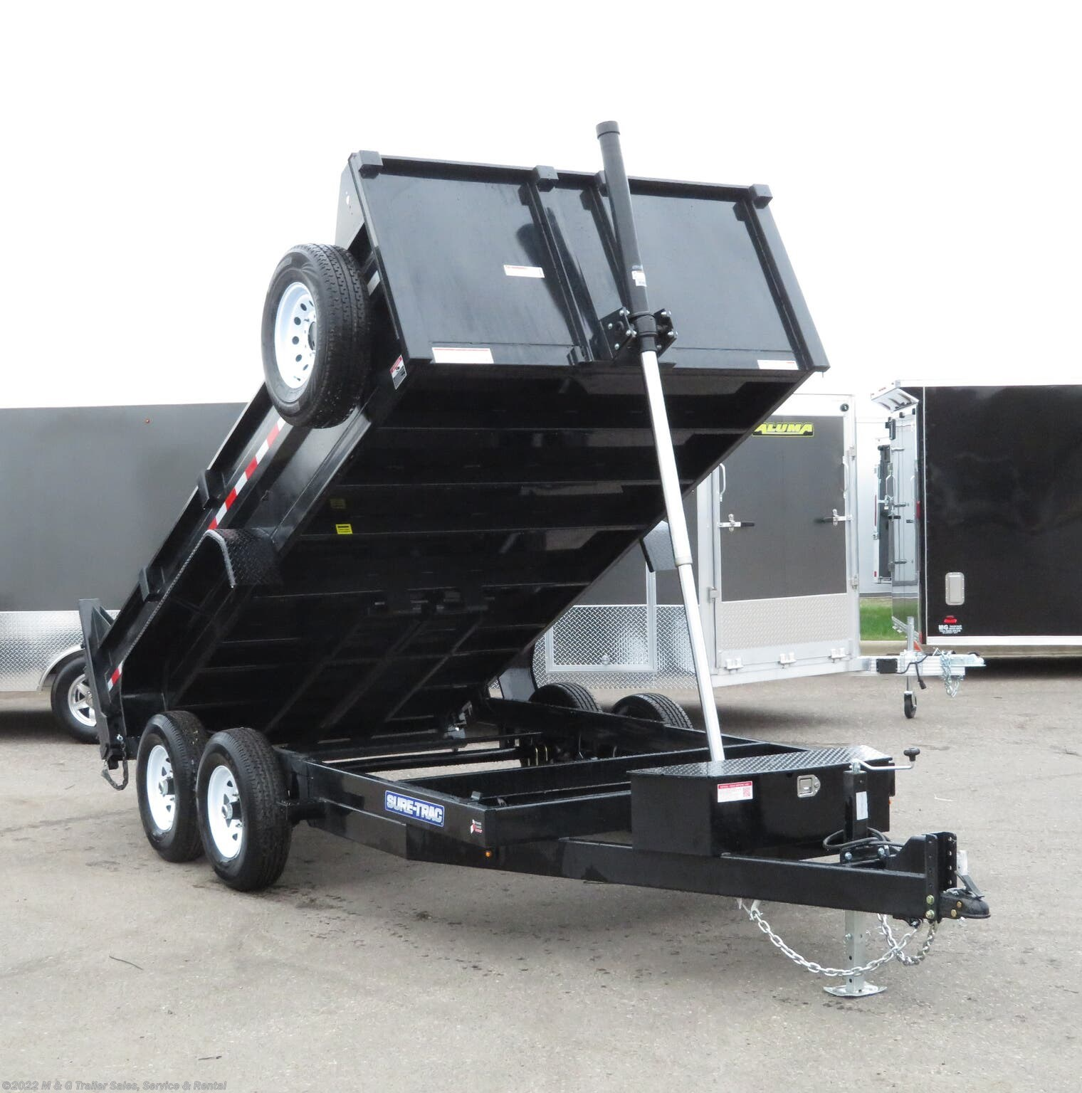2021 Sure-Trac 14' Dump 14k Trailer - Black - Stock #300261