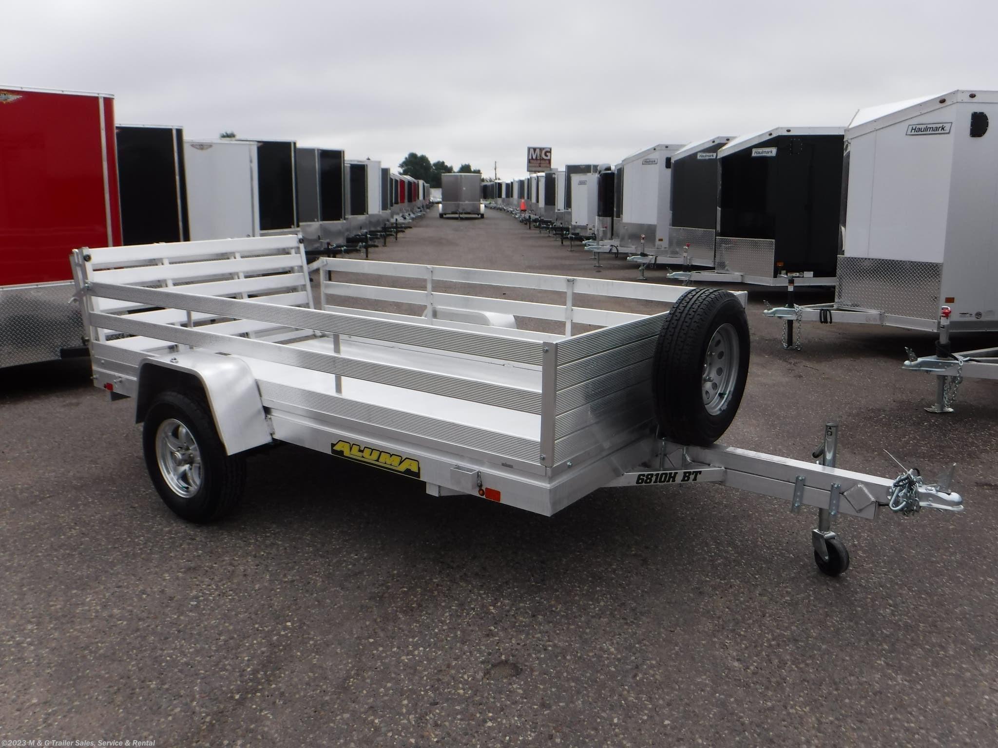 2021 Aluma 6810HBT Aluminum Utility Trailer - Stock #222287