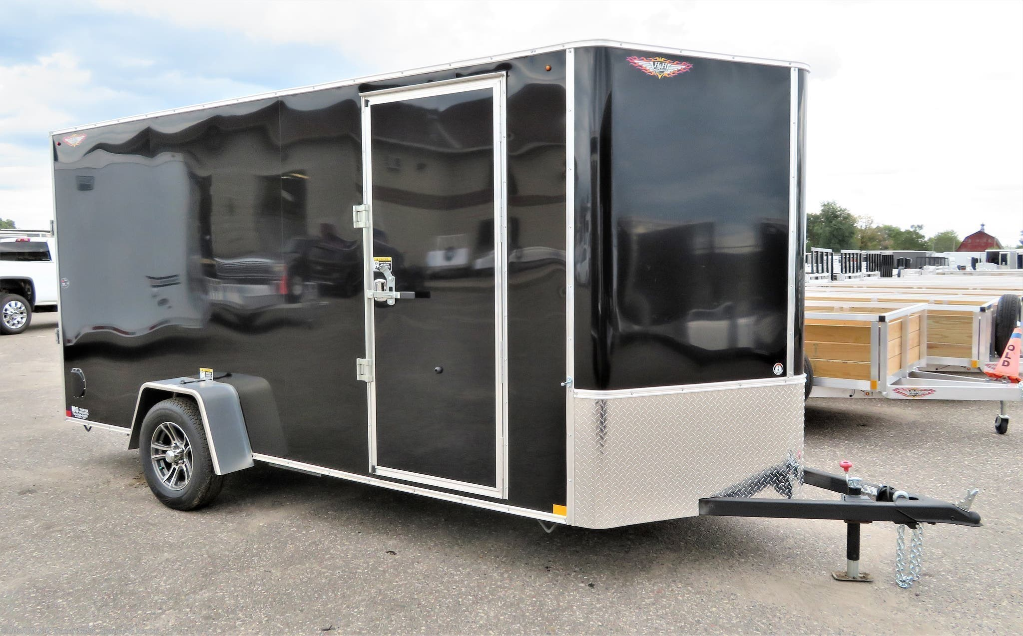 "2021 H&H 6x14SA Enclosed 6'6"" Int Cargo - Black - Stock #543040"