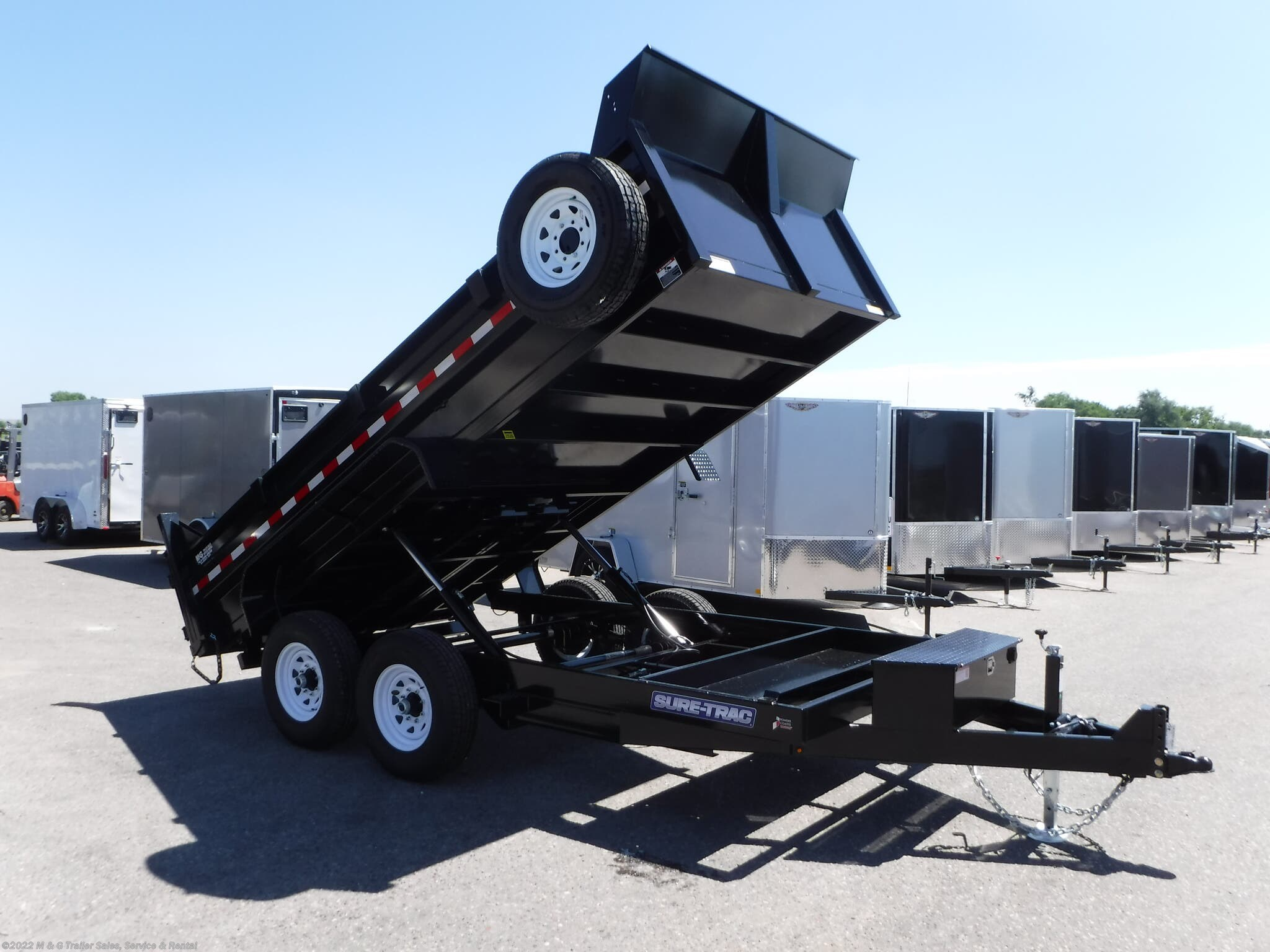 2021 Sure-Trac 14' Dump 14k Trailer - Black - Stock #313063