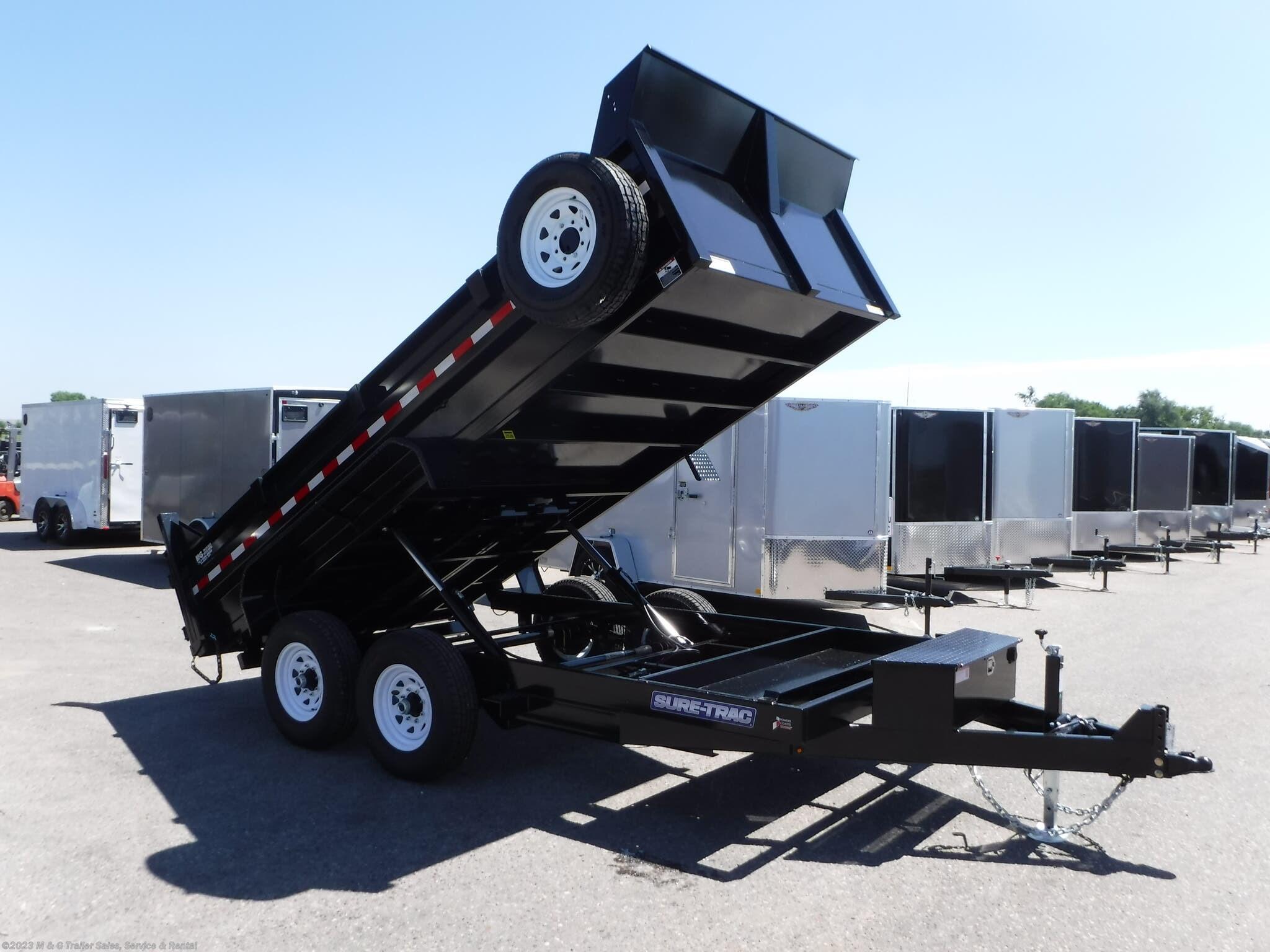 2021 Sure-Trac 14' Dump 14k Trailer - Black - Stock #313062