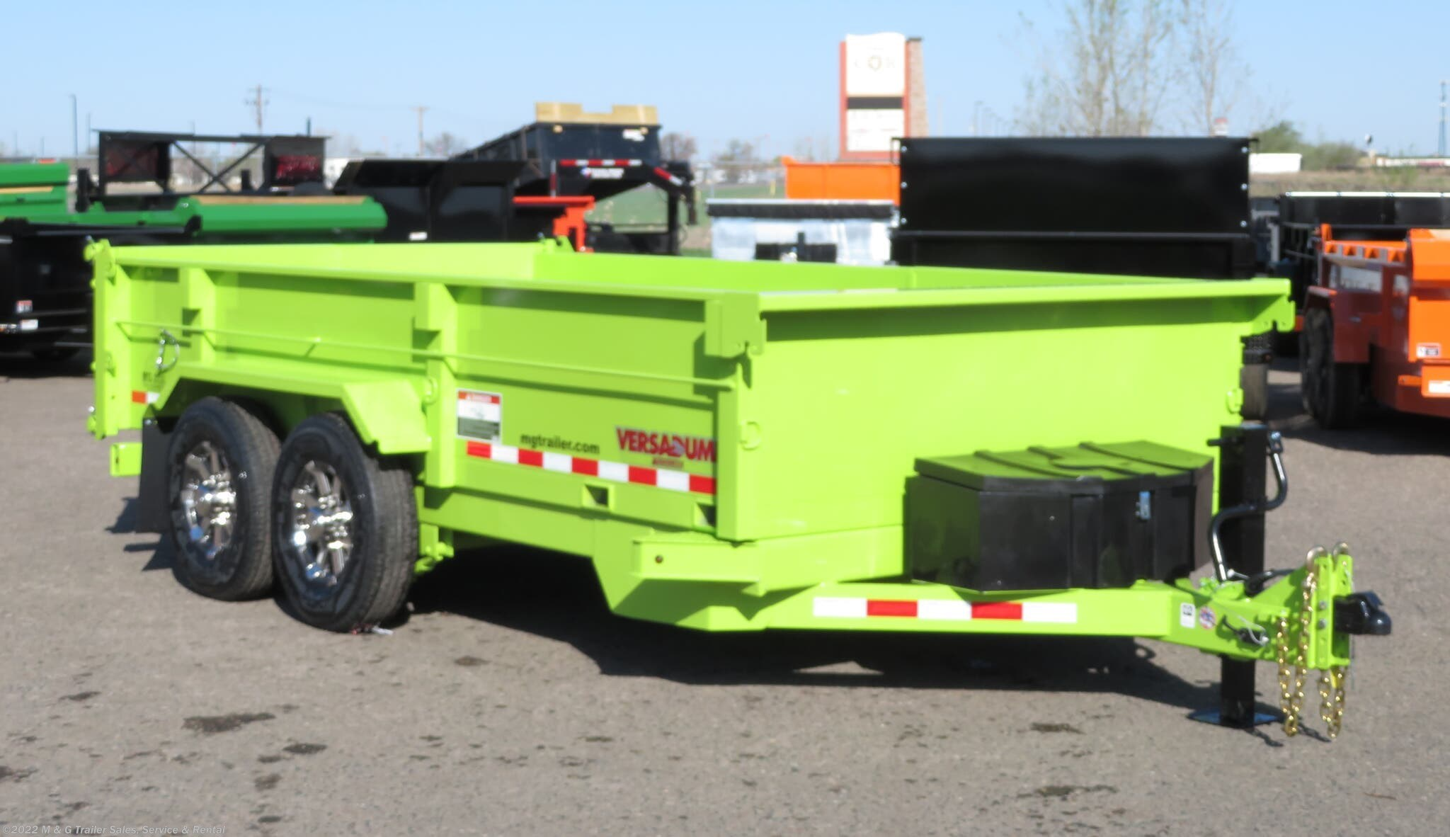 2021 Midsota 16' Dump Trailer - Safety Green - Stock #000727