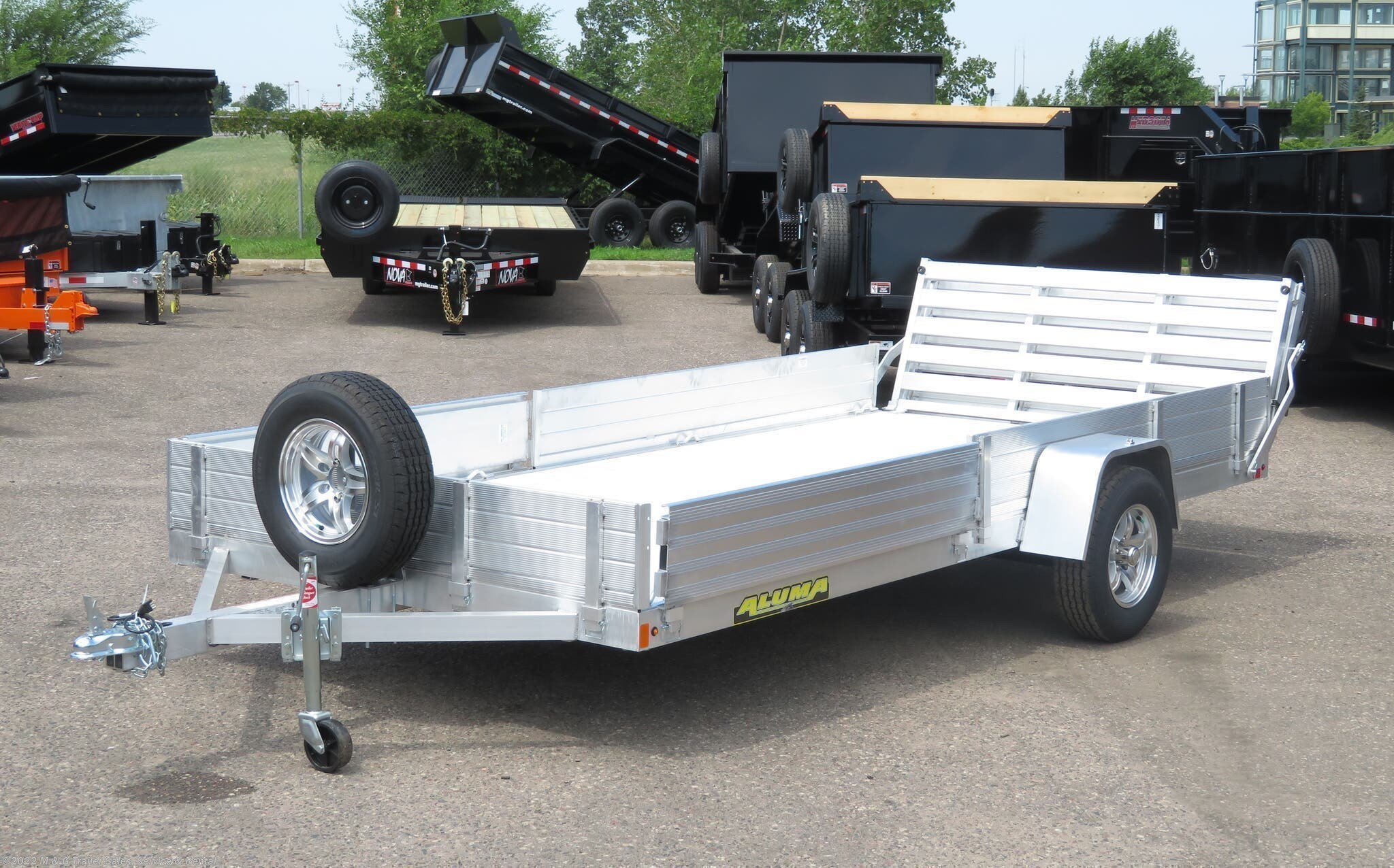 2021 Aluma 8114 SR Aluminum ATV/Utility Trailer - Stock #227081