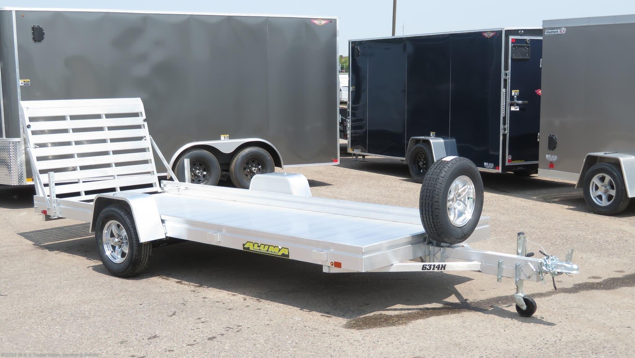 2021 Aluma 6314H Aluminum Utility Trailer - Stock #227123