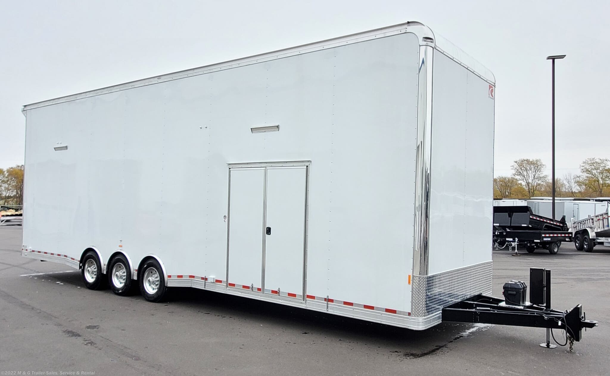 2021 RC Trailers RCS Series 8.5x32 Deluxe Stacker Race Trailer! - Stock #655522