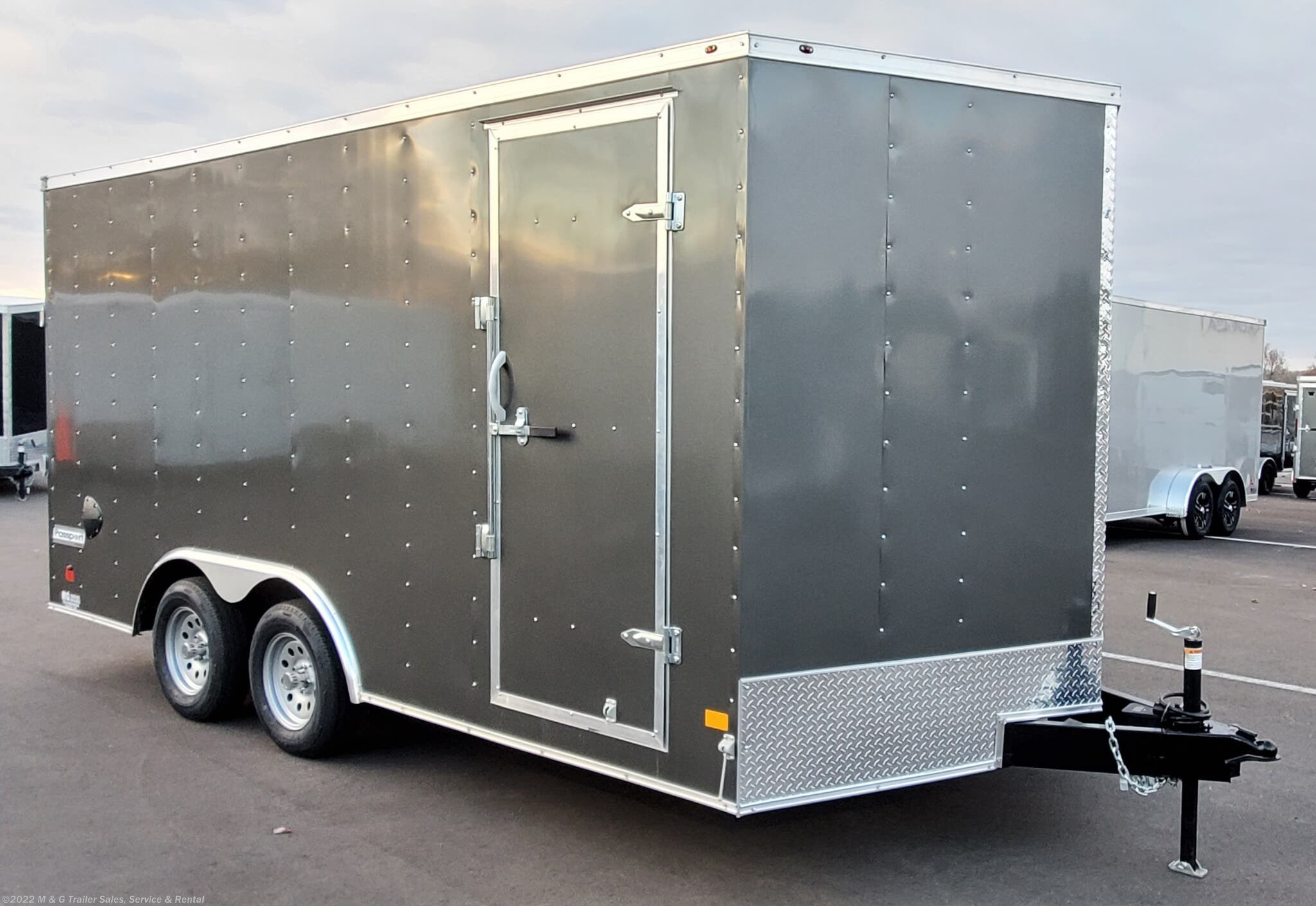 2021 Haulmark Passport 8.5x16+V Enclosed Cargo Trailer - Charcoal - Stock #000777