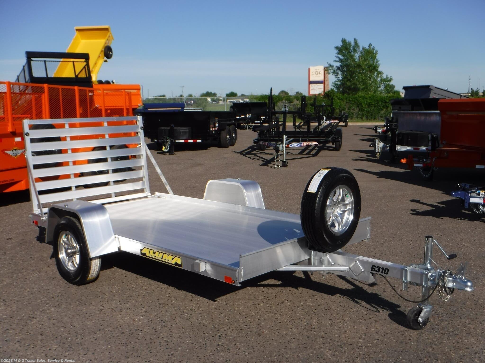 2022 Aluma 6310 LW Aluminum Utility Trailer - Stock #230092