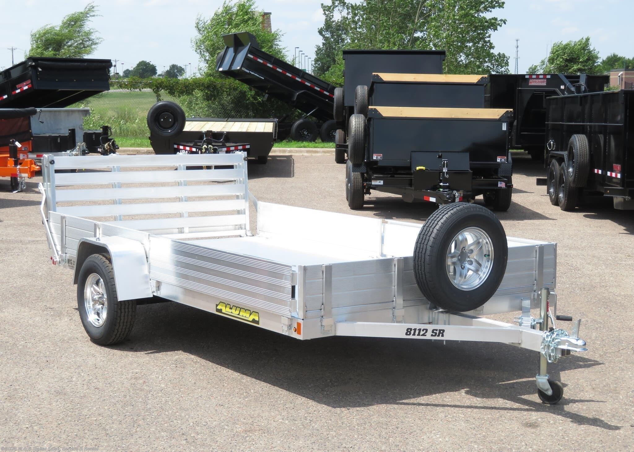2022 Aluma 8112 SR Aluminum ATV/Utility Trailer - Stock #230120