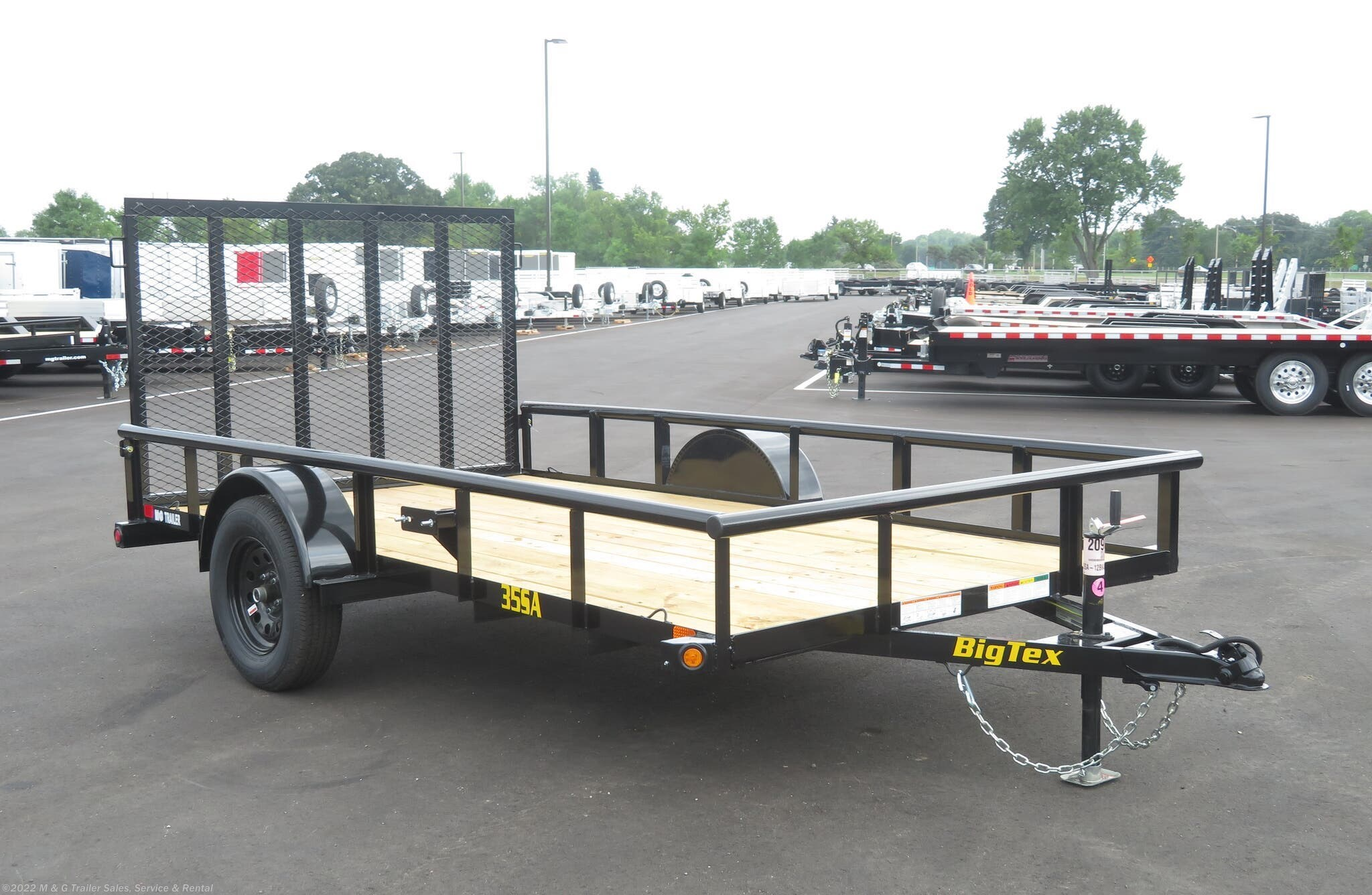 "2021 Big Tex 77""x12' SA - Stock #056746"