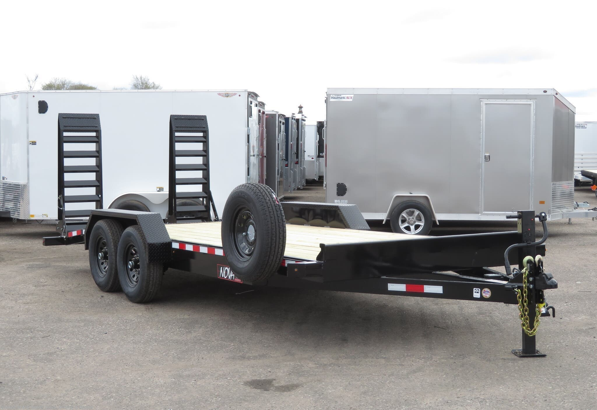 2021 Midsota ET8220 15k Equipment Trailer - Black - Stock #001946