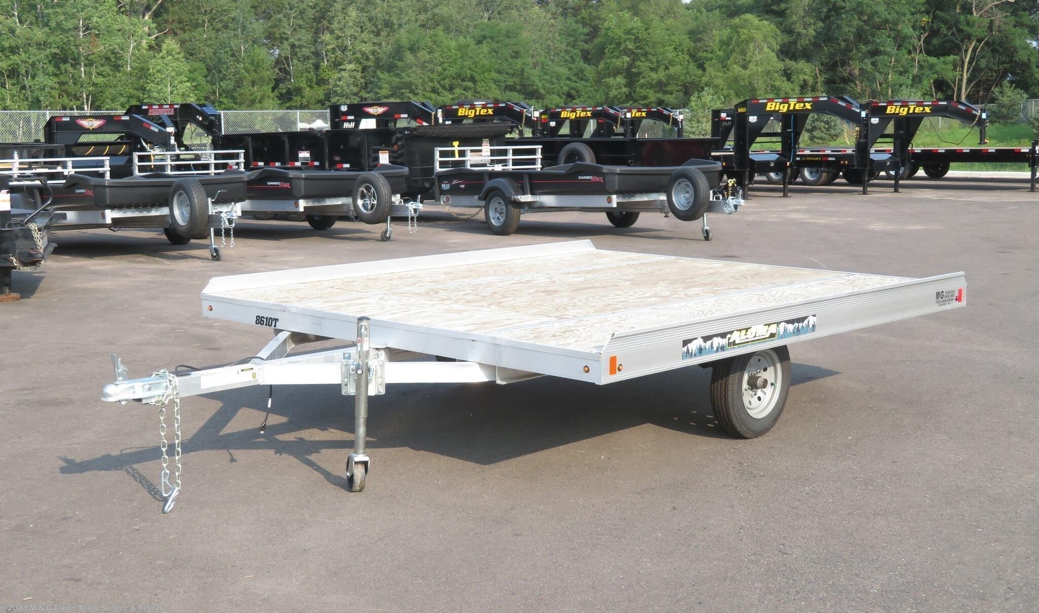2021 Aluma 8610T Aluminum Tilt Bed Snowmobile Trailer - Stock #229476
