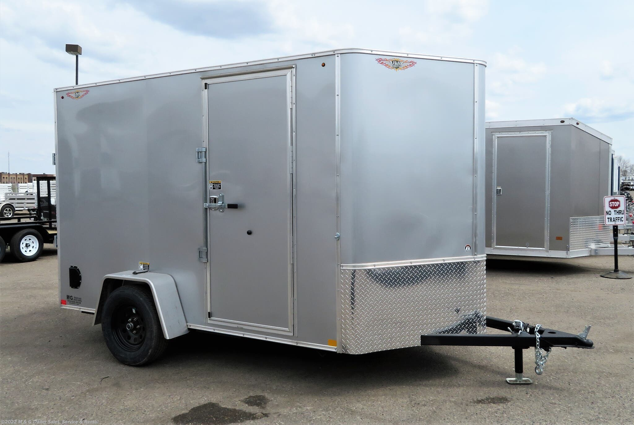 "2021 H&H 6x10 Enclosed 6'6"" Int Cargo - SILVER - Stock #549500"