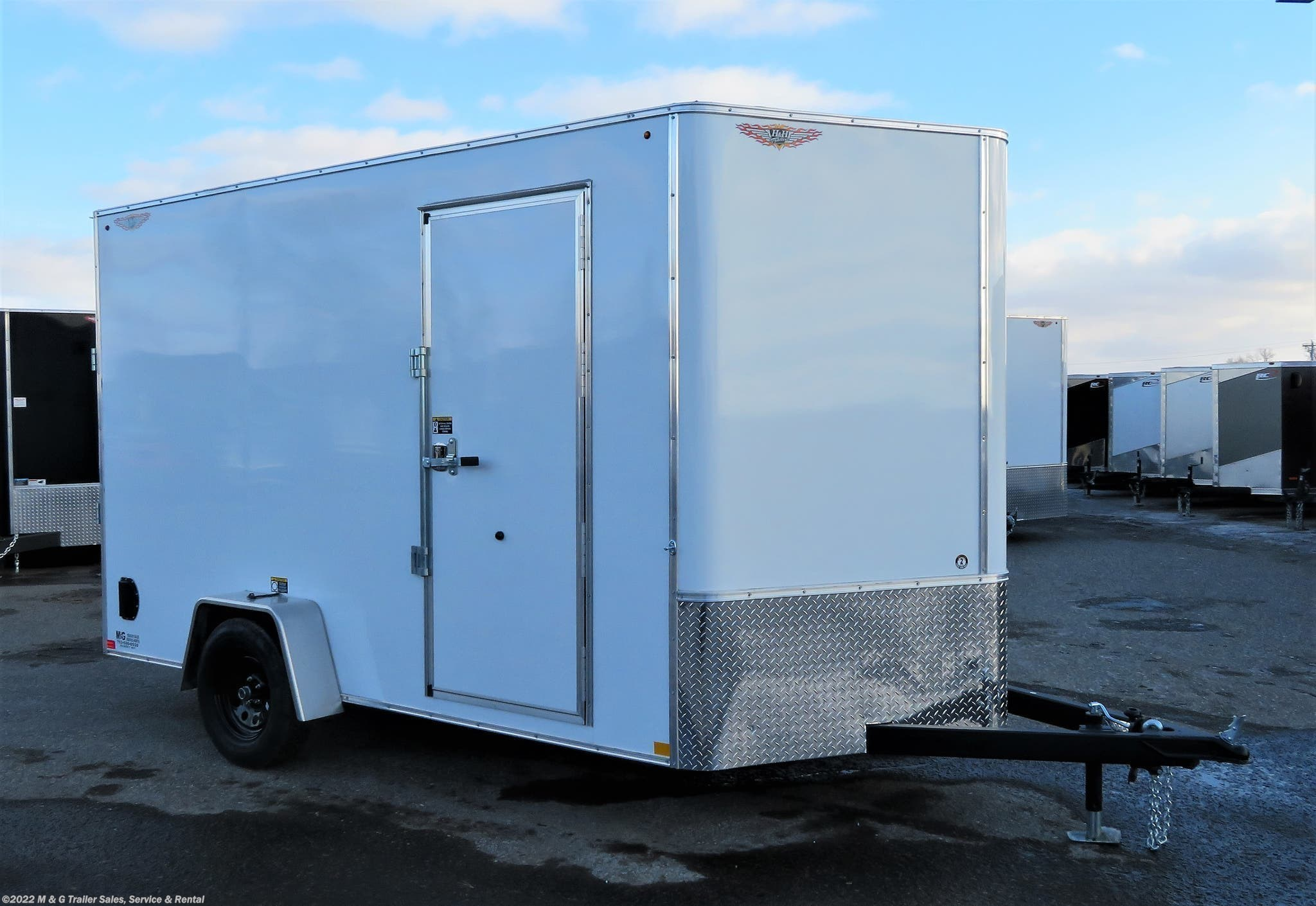 2021 H&H 7x12 Enclosed 7' Int Cargo - White - Stock #549533