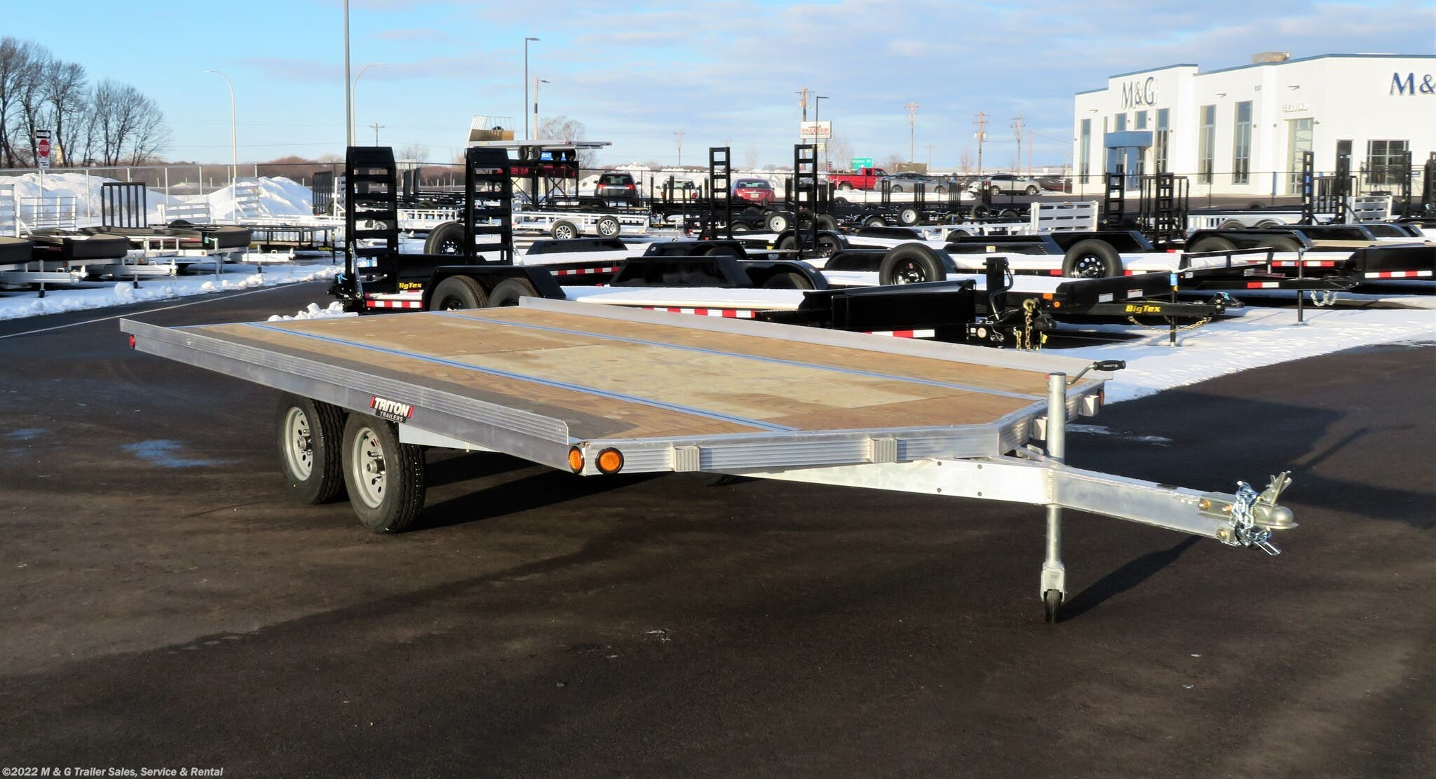 2021 Triton Trailers Elite 16-101 3 Place Snowmobile Trailer - Drive On - Stock #105709