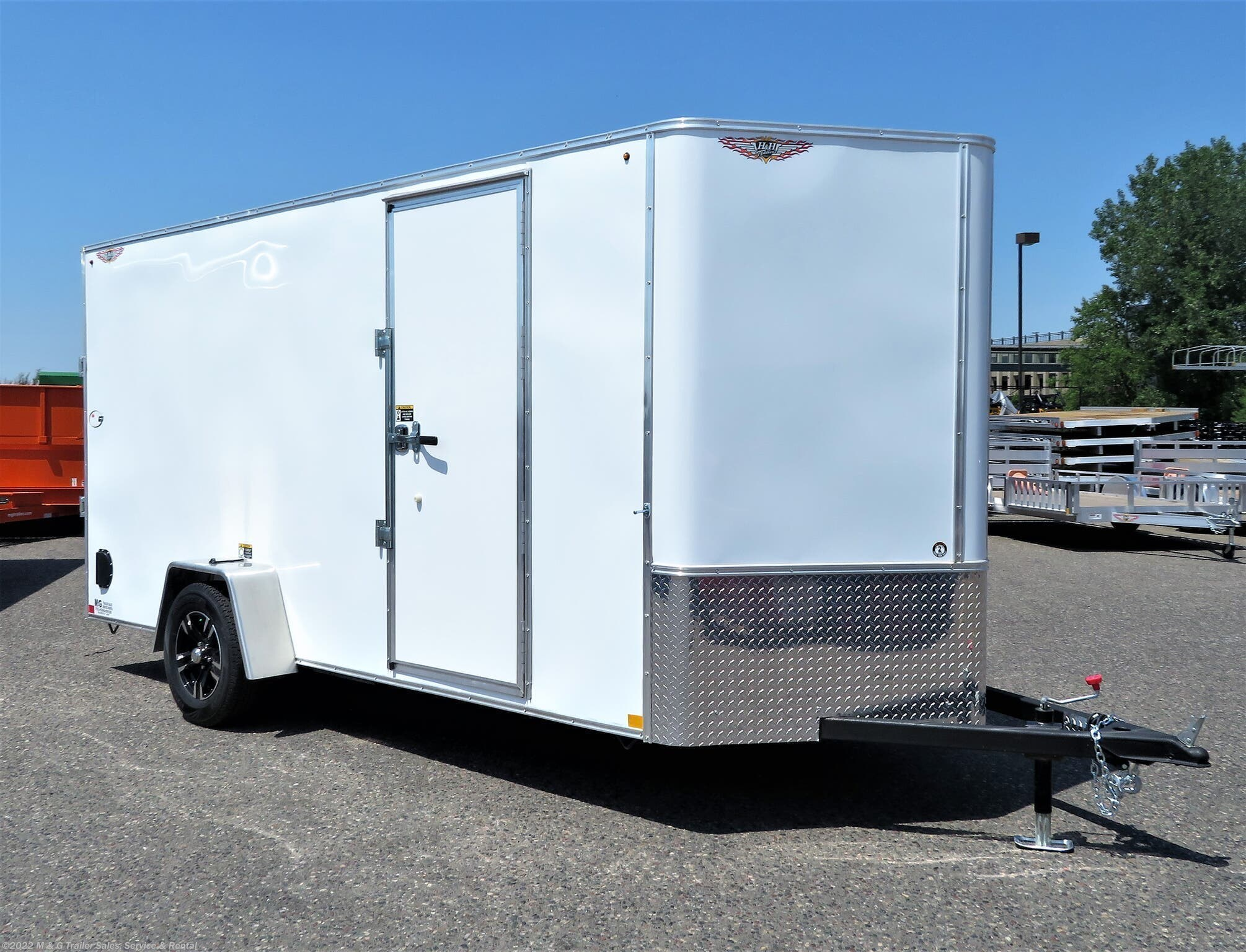 "2021 H&H 6x14SA Enclosed 6'6"" Int Cargo -White - Stock #552988"