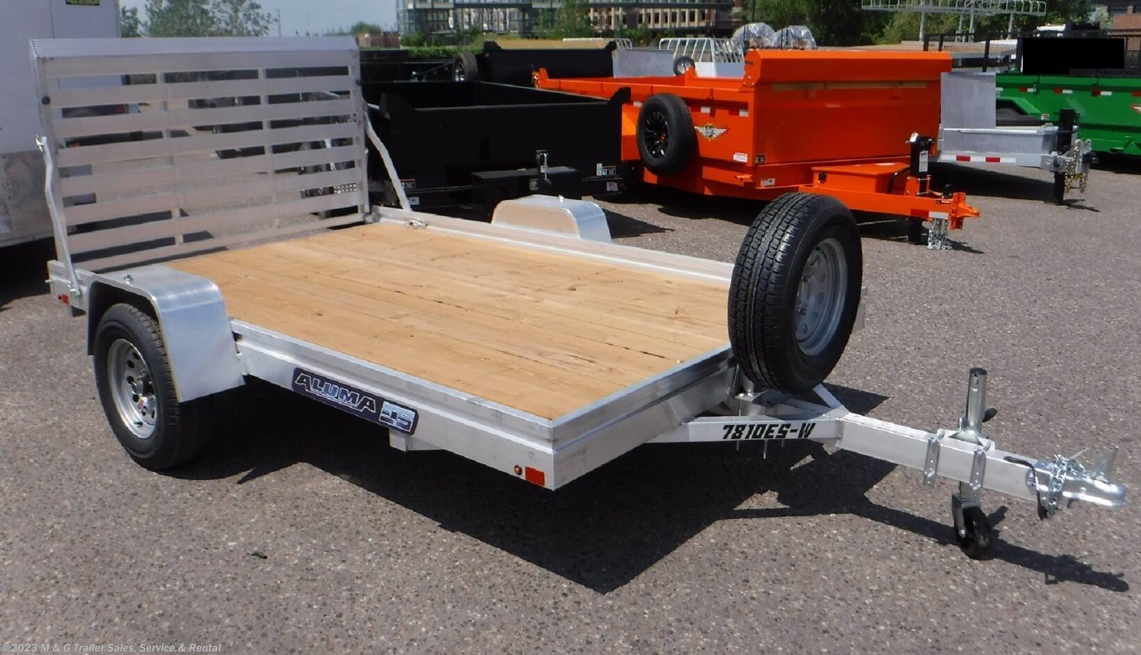 2022 Aluma 7810ESW Aluminum Utility Trailer - Stock #231860